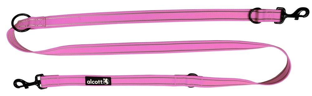 Essentials verstellbare Abenteuerleine, pink, M, L