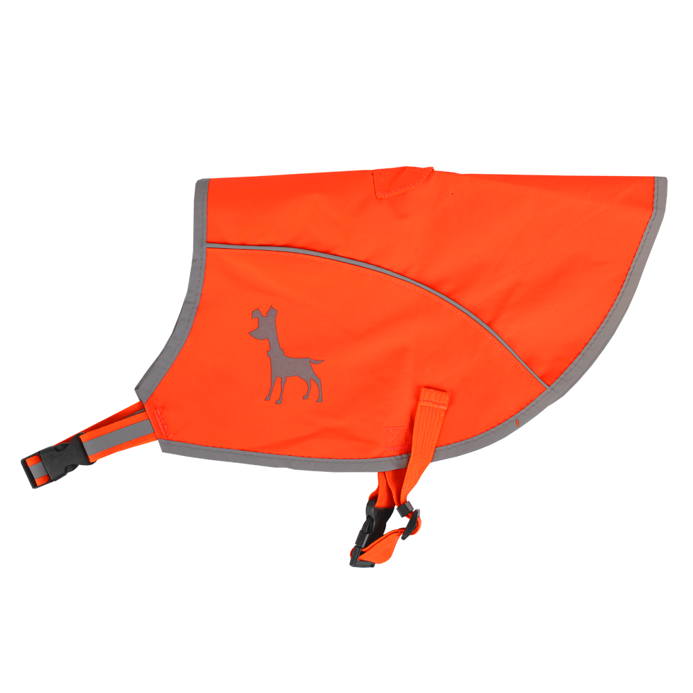 Essentials Neon-Orange Hundeweste, medium, 36 cm