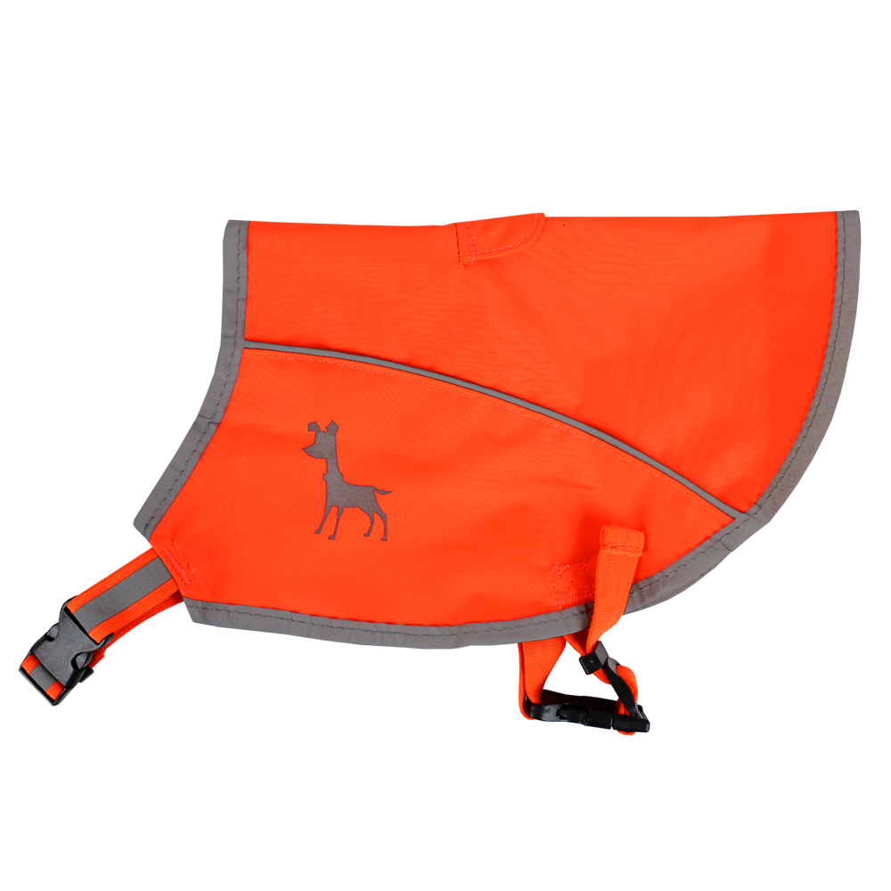 Essentials Neon-Orange Hundeweste, large, 46 cm