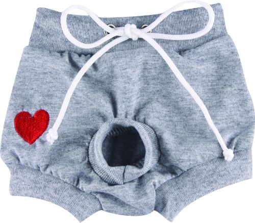 Heart grey boxer