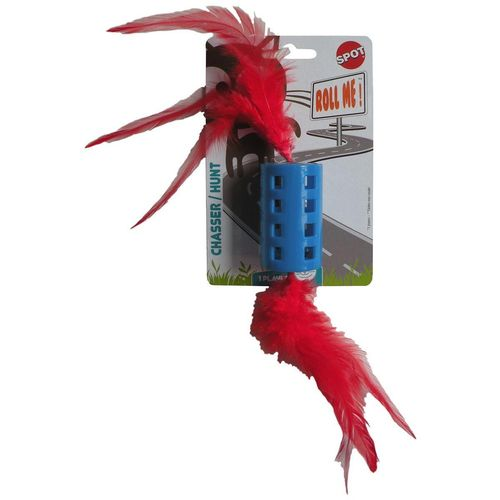FEATHER ROLL BELL CAT TOY