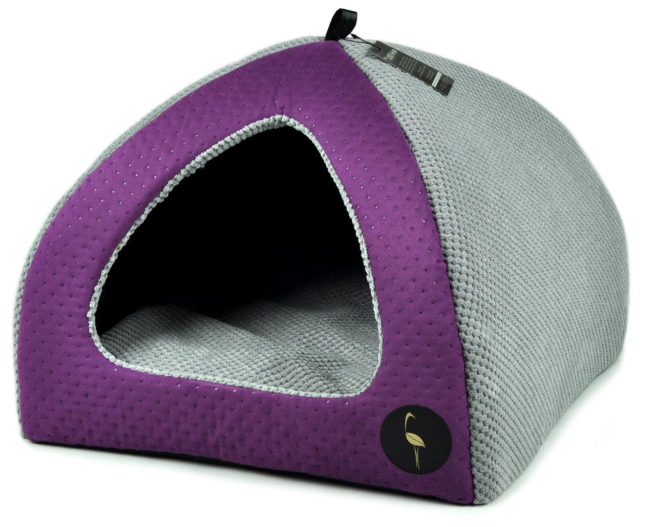 Haus BELLA violett gesteppt / grau, 2 Größen