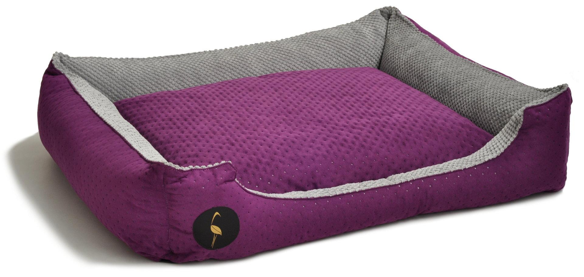 CEZAR violett gesteppt / grau, 3 Größen