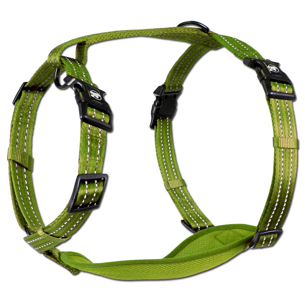 Essentials Neon Abenteuergeschirr, grün, XS-L