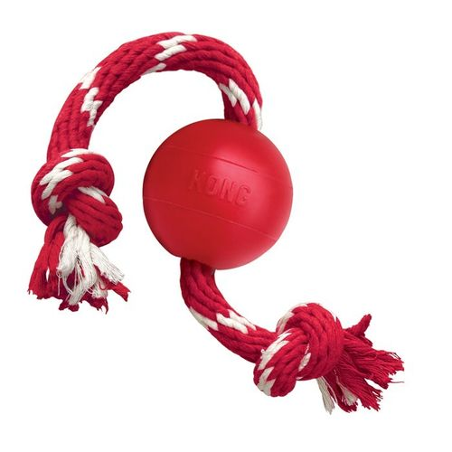 KONG Ball with Rope, S