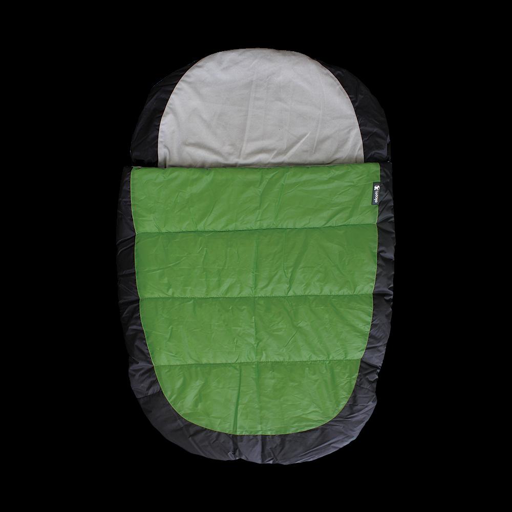 Alcott Schlafsack Gr. M in grün/grau/schwarz