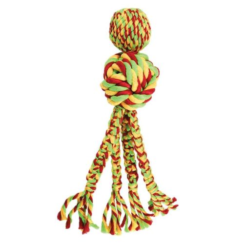 KONG Wubba Weaves w/Rope Assorted S