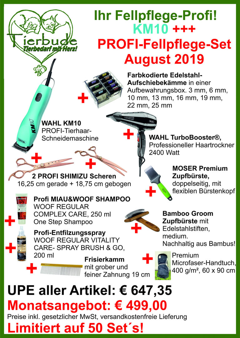 KM10 +++ Fellpflege Profi Set August 2019