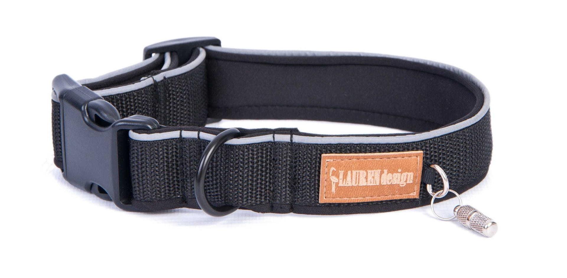 Halsband, schwarz, S - XL