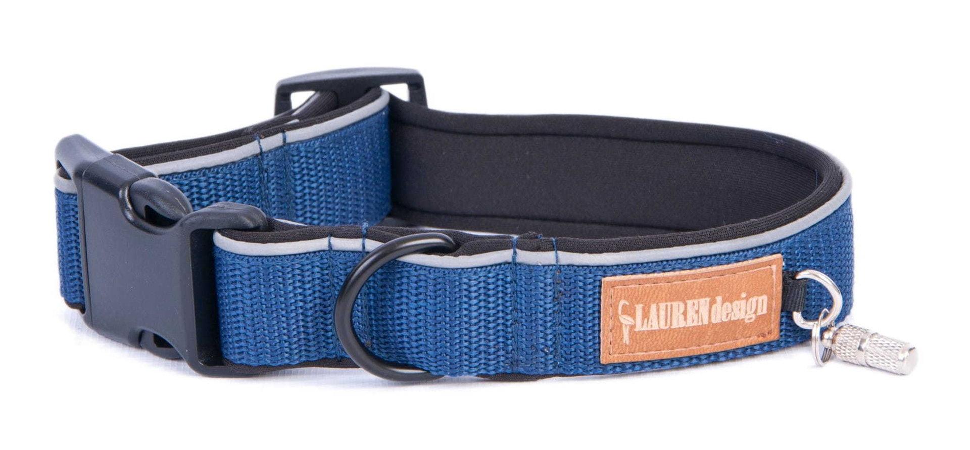 Halsband, blau, S - XL