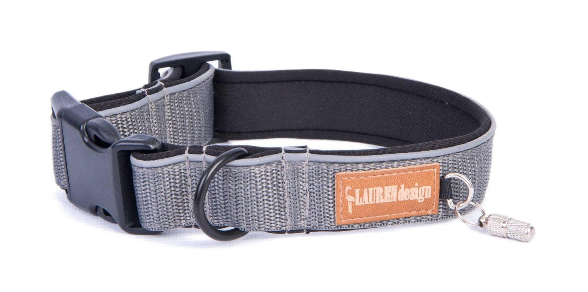 Halsband, grau, S - XL