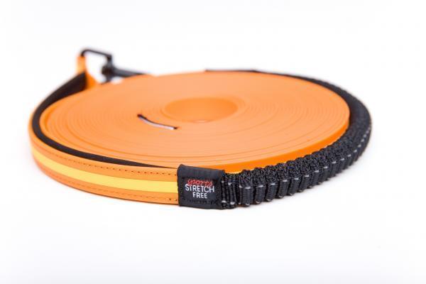 DIGGAR® Schlepp- und Führleine, 10 Meter, Farbe neon orange