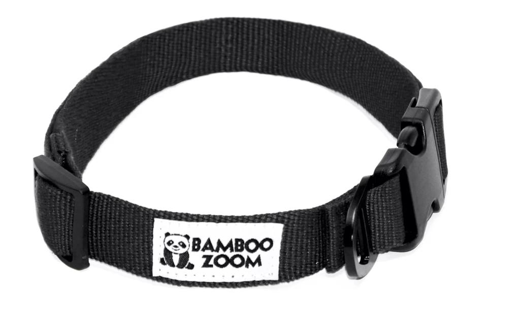 Bamboo Zoom Halsband Schwarz S bis L